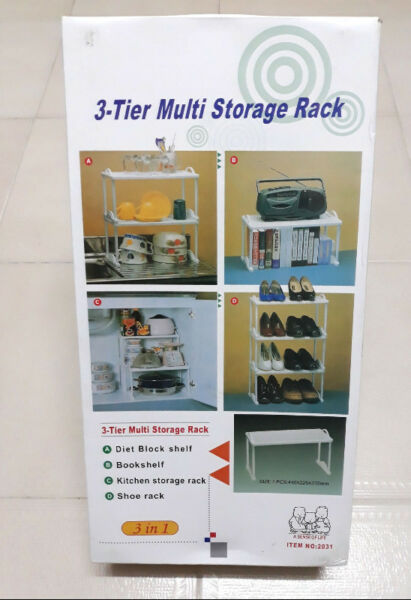 3-Tier Multi Storage Rack / Shelf