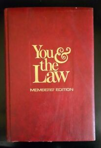 You & the Law. Hard Cover Book.