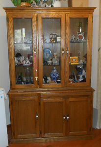 Solid Oak China Cabinet Cabinet - Chilliwack