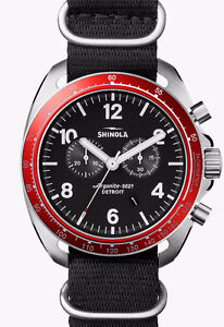 FS: Shinola Rambler Tachymeter Watch - Black & Red