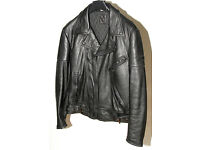 Weise Classic Leather Motorcycle Jacket Size 40