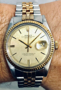 Rolex Datejust 1601 - 18K Gold & SS, Automatic, 36mm Men's Watch