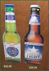 Lonestar Light  Bottle Shape Tin Sign Belleville Belleville Area image 4