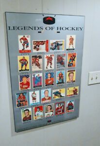 2 NHL original 6 & Hockey Cards Wall decor