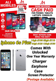 iphone 6s Plus Comes With Unlocked One Year Warranty Charger Earphone