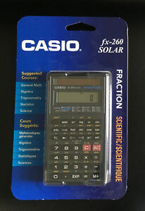 BRAND NEW Casio fx-260 Solar Scientific Calculator