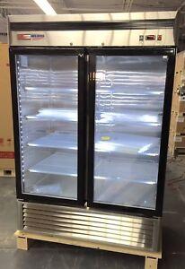 2 door glass freezer ebay new freezer 2 double door glass front reach in freezer frozen food merchandiser planetlyrics Choice Image