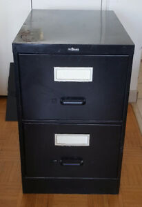 2 drawer metal legal filing cabinet