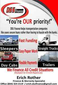 TRUCK / TRAILER / HEAVY EQUIPMENT FINANCING - ALL CREDIT WELCOME