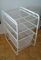 ikea Metal Drawers - 3 wire jaskets white