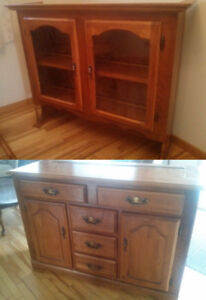 Beautiful Solid Wood Buffet China Cabinet and Hutch