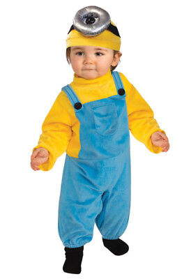 Minion Stuart Despicable Me Toddler Costume 3T-4T Jumpsuit Headpiece ](Minion Costume 4t)