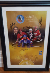 2006 & 07 Hockey Hall of fame Induction celebration signed #