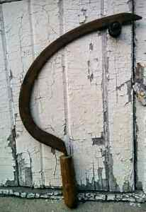 Primitive Rustic Hand Sickle Farm Tools Garden Cottage Decor Kitchener / Waterloo Kitchener Area image 2