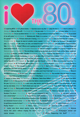 I Love the 80s Greatest Quotes Movie Poster Print Poster Print, 24x36