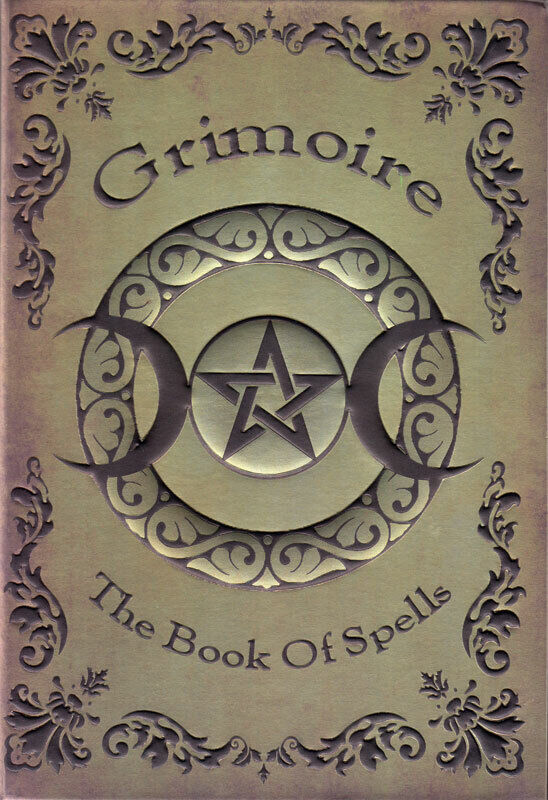 """Grimoire: Book of Spells 8"""" Embossed Unlined Journal Book of Shadows (Hardcover)"""