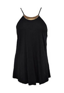 NWT: STOOSH Black Halter Top with Gold Necklace Size S