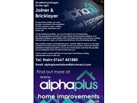 Joiner and Bricklayer required