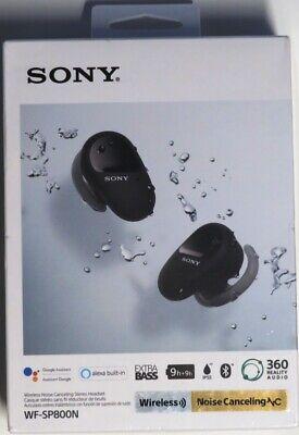 Sony WF-SP800N True Wireless Noise-Cancelling In-Ear Headphones, Black, Sealed