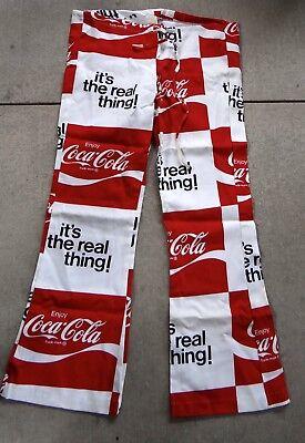 RAREVintage Coca-Cola Beach Pants Made in USA Size 38-40 Hip Hugger Bell Bottoms
