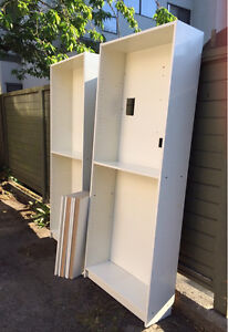 FREE - 2 white IKEA Billy bookcases