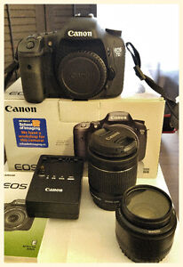 Canon 7D with lenses in excellent condition