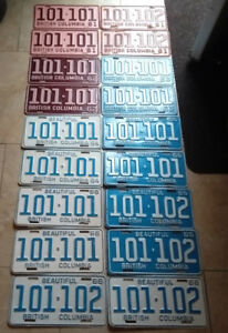 ** Classic Car ? Vintage LICENSE PLATES **