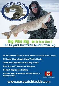 Horizontal Quick Strike Rigs (Pike Rigs) Ice Fishing
