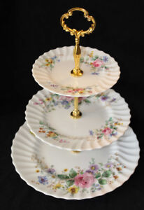 TEA CUPS AND TIERED CAKE STANDS FOR SALE - VINTAGE