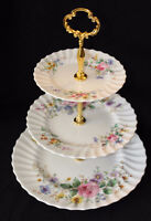 TIERED CAKE STANDS FOR SALE - VINTAGE PLATES