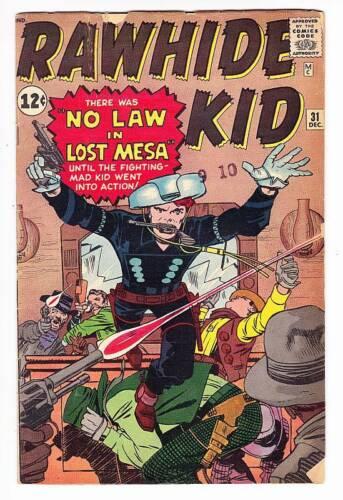 RAWHIDE KID #31 - 1962 Marvel Silver Age western comic - Jack Kirby art
