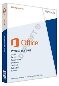 Microsoft Office Professional 2013 Vollversion 1 PC Deutsch 2010 2007