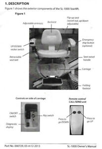 Wanted used Savaria SL-1000 Stairlift