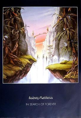 """RODNEY MATTHEWS POSTER """"IN SEARCH OF FOREVER"""""""