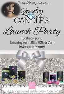 Jewelry in candles launch party