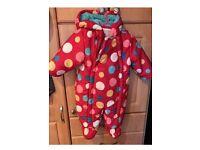 3-6month John Lewis Snow Suit