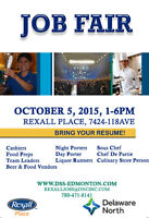 Job Fair @ Rexall Place - October 5!!