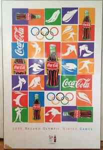 9 professionally plaque mounted Coca Cola posters London Ontario image 1