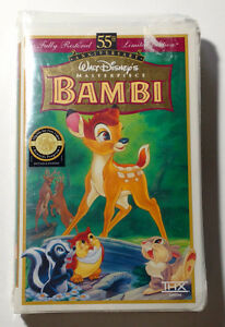Sealed - Disney Bambi 55th Anniversary VHS - Never Opened
