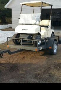 Easy load utility trailer