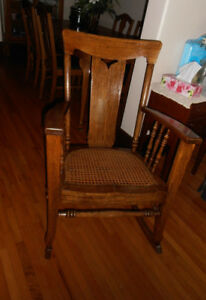 Refinished Wood Rocking Chair