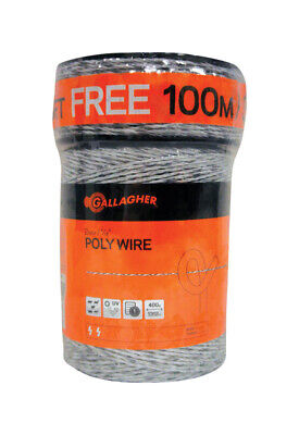 Gallagher Fence Poly Wire 1620 Ft. White