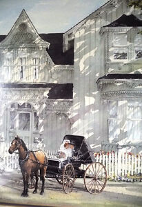 Victorian Wedding Picture, w/ Horse and Buggy by Walter Campbell Stratford Kitchener Area image 7