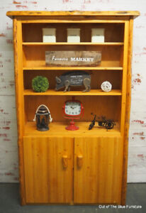 Rustic solid pine cabinet/pantry