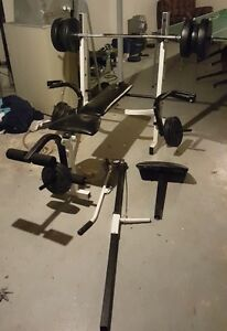 Weight Bench + Weights