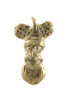Pendant Mask Ashanti Tribale Tribale Art African Figure Brass Th