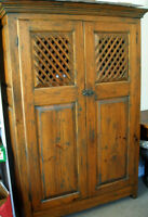 Antique Armoire Bookcase Cabinet