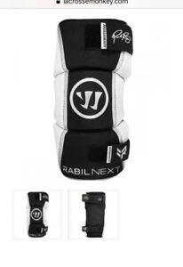 Lacrosse arm guards, Youth Large, Warrior brand, Paul Rabil NEXT