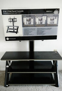 Glass TV Stand, 3 tiers( New)