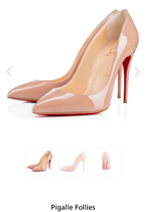 Christian louboutin nude Pigalle Follies 100mm